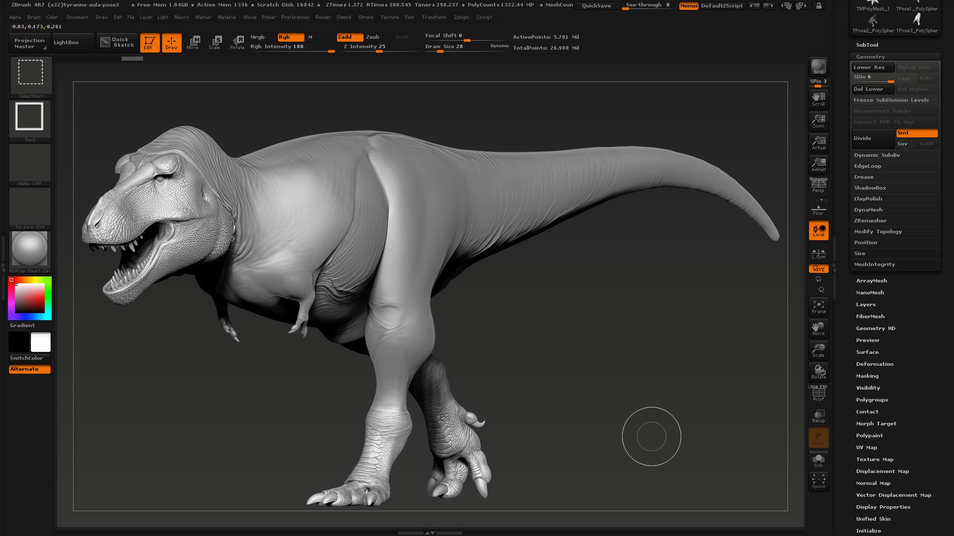 ArtStation - Tyrannosaurus rex, Hugo Cafasso