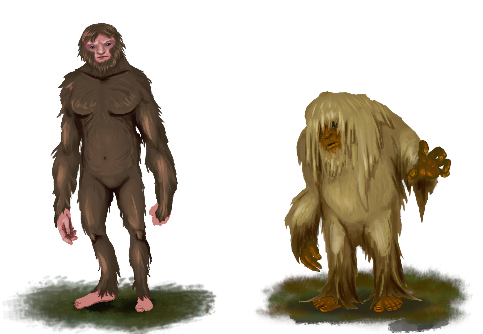 Sasquatch and Skunk Ape