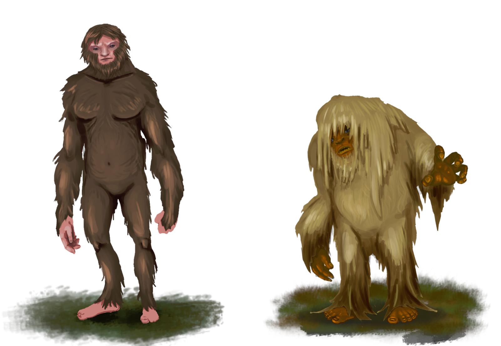 Sasquatch and Skunk Ape