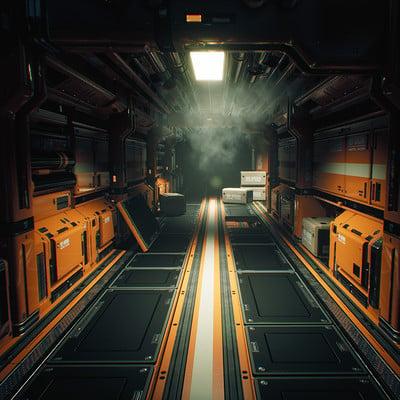 Sergey tyapkin orange scifi environment shot 1
