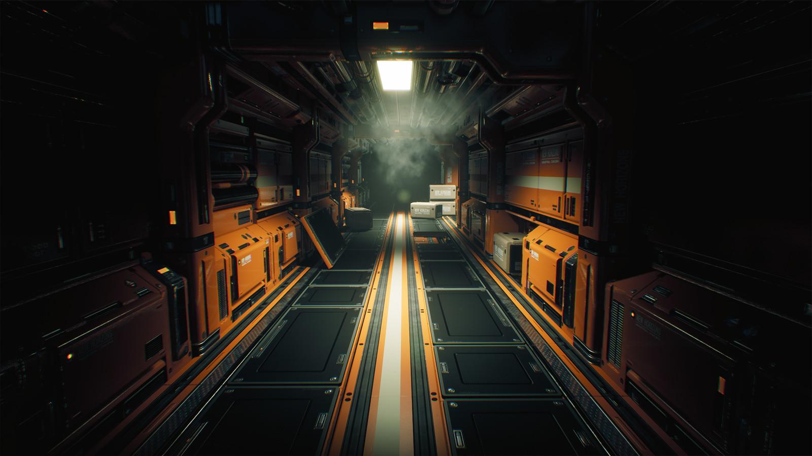 Sci-Fi Corridor. Modular environment v3.