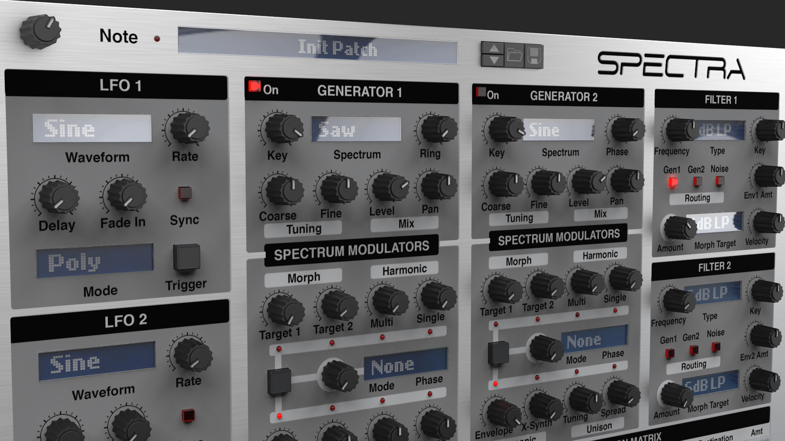Spectra Software Synthesizer