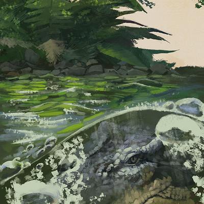 Joris van beusekom lurking crocodile halfcard