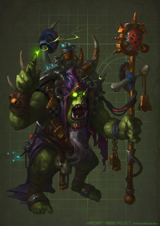 Artstation Gul Dan Warcraft 40000 Project Alexey Kruglov