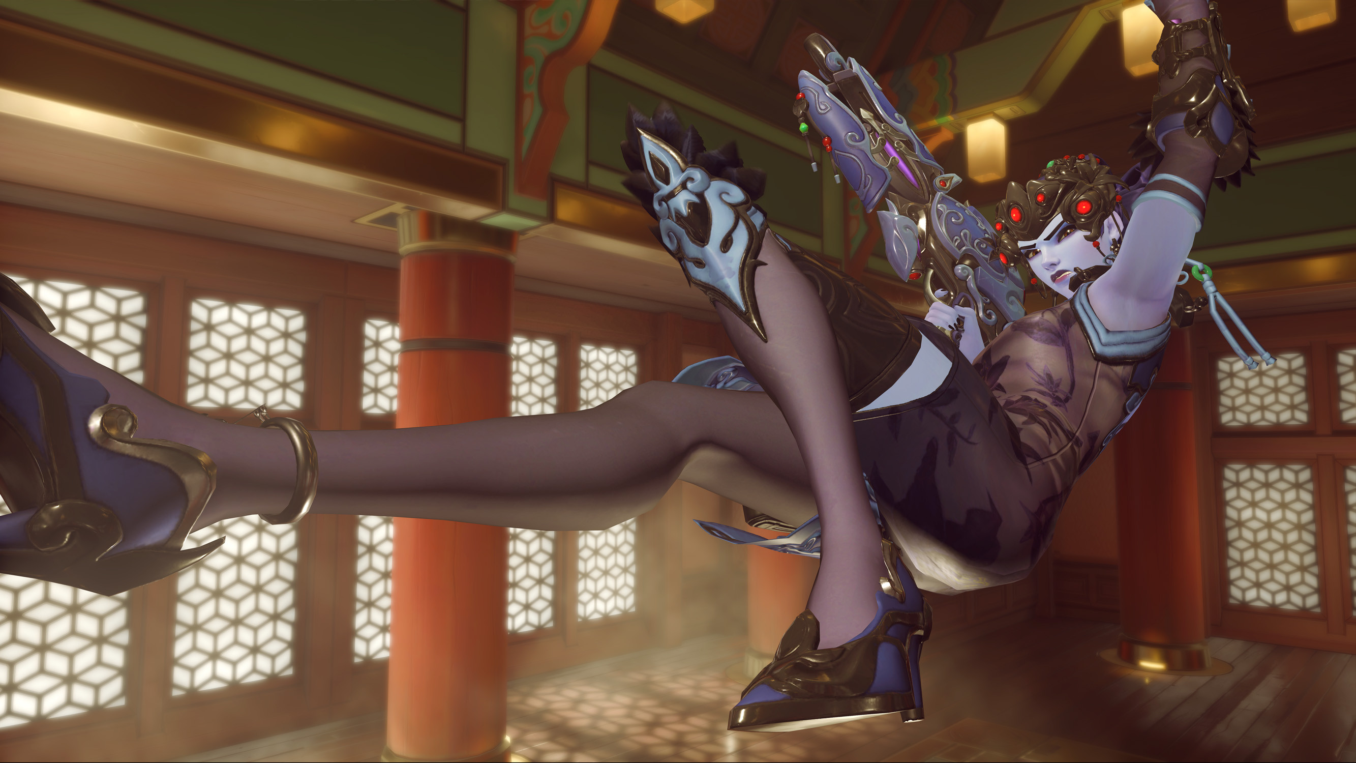 Black Lily Widowmaker | Overwatch Lunar New Year Festival | Year of the Dog 2018