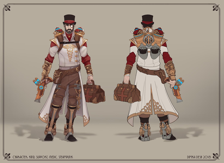 dimkadesh deshamba concept art steampunk doctor