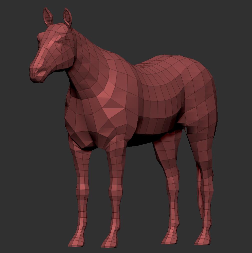 Ken calvert horse wire 3qrt