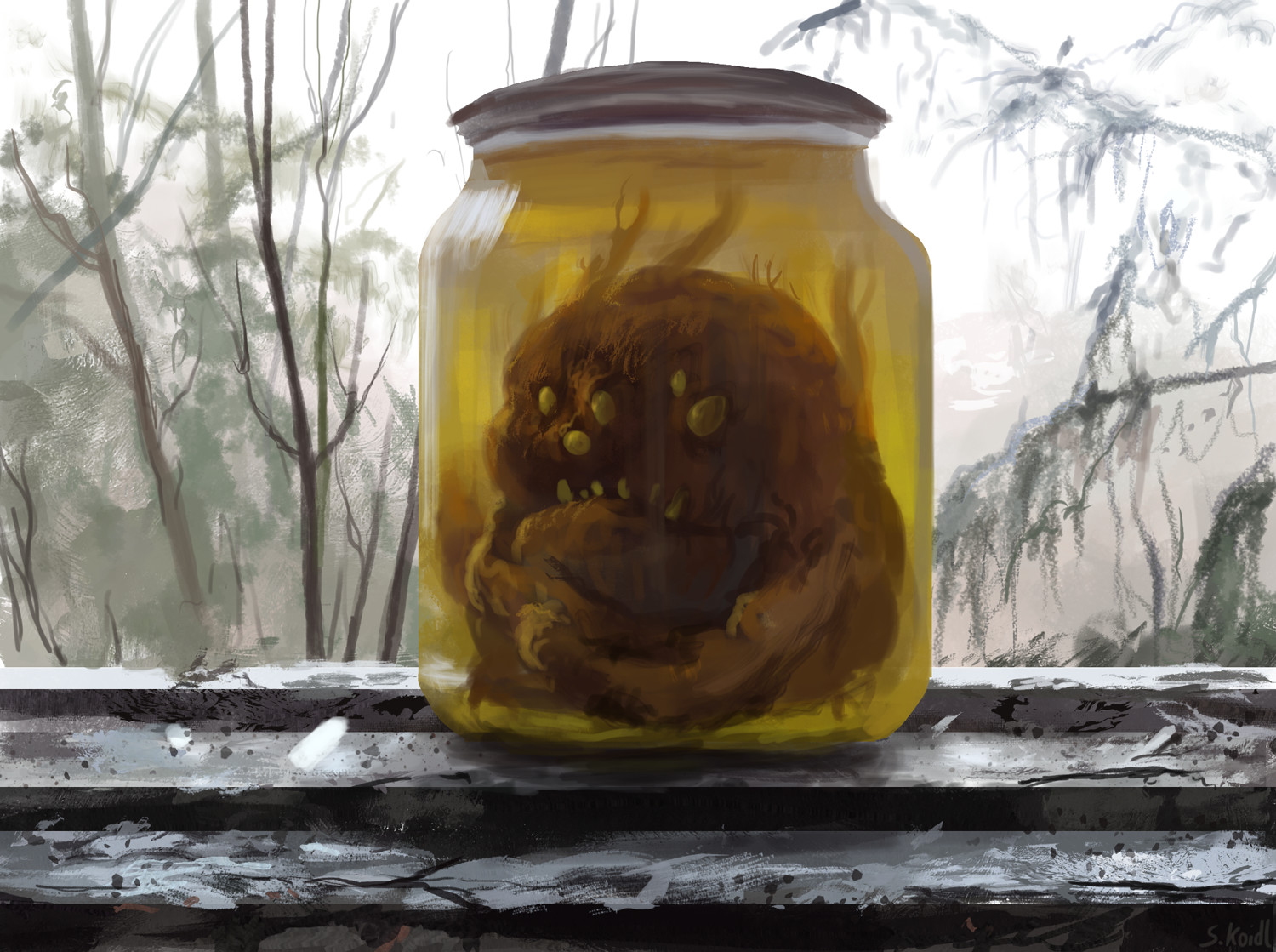 Caught in a jar