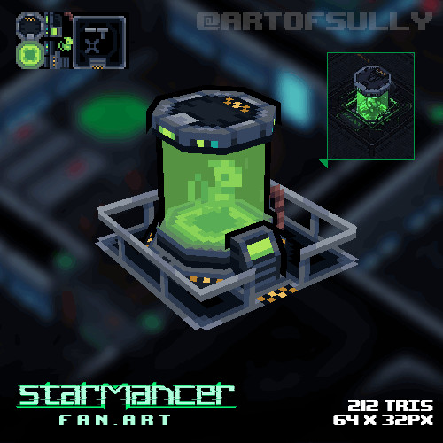 3D Pixel-Art Cryotube ('Starmancer' Fanart)