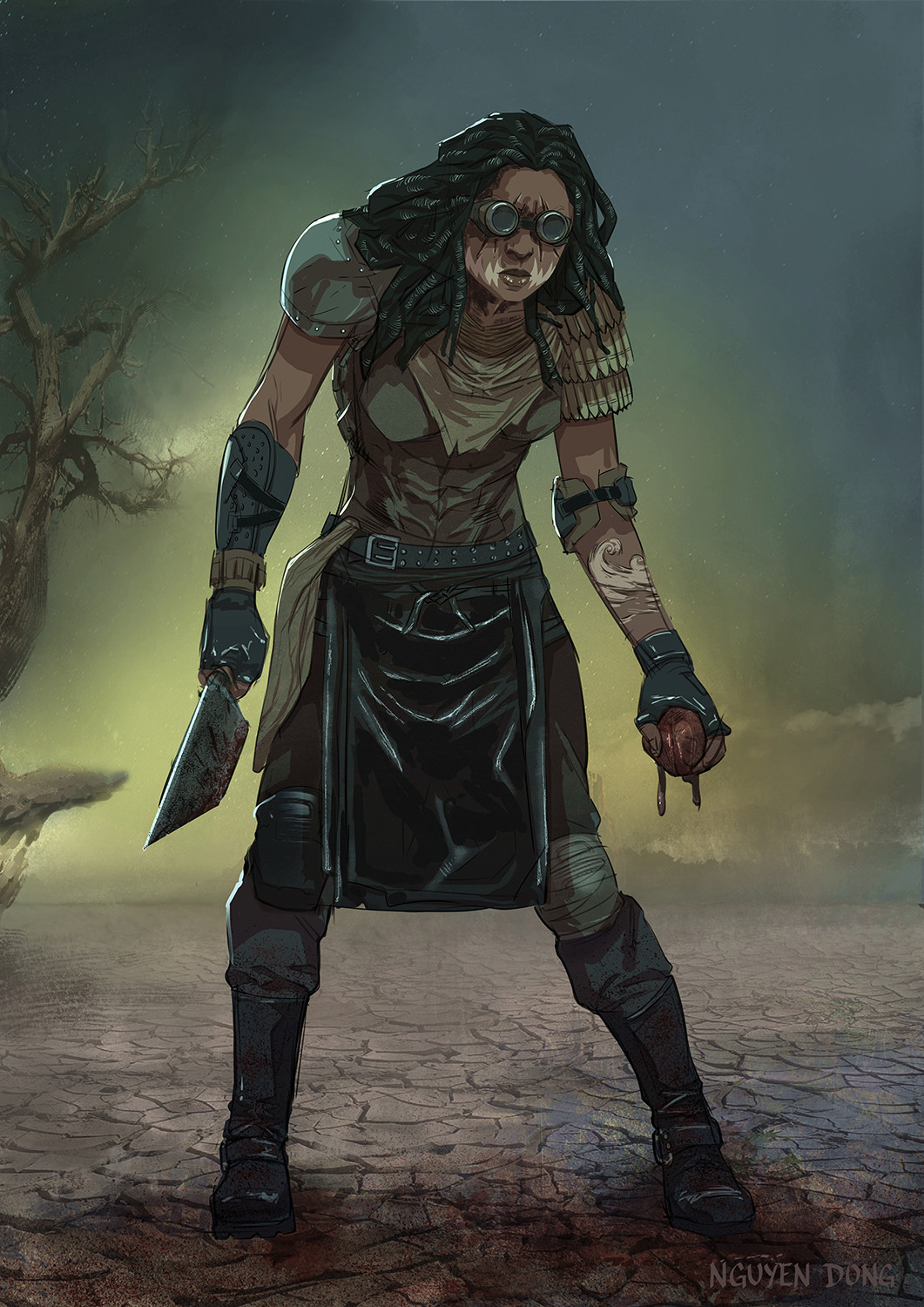 Witch for Hansel and Gretel in a Mad Max style