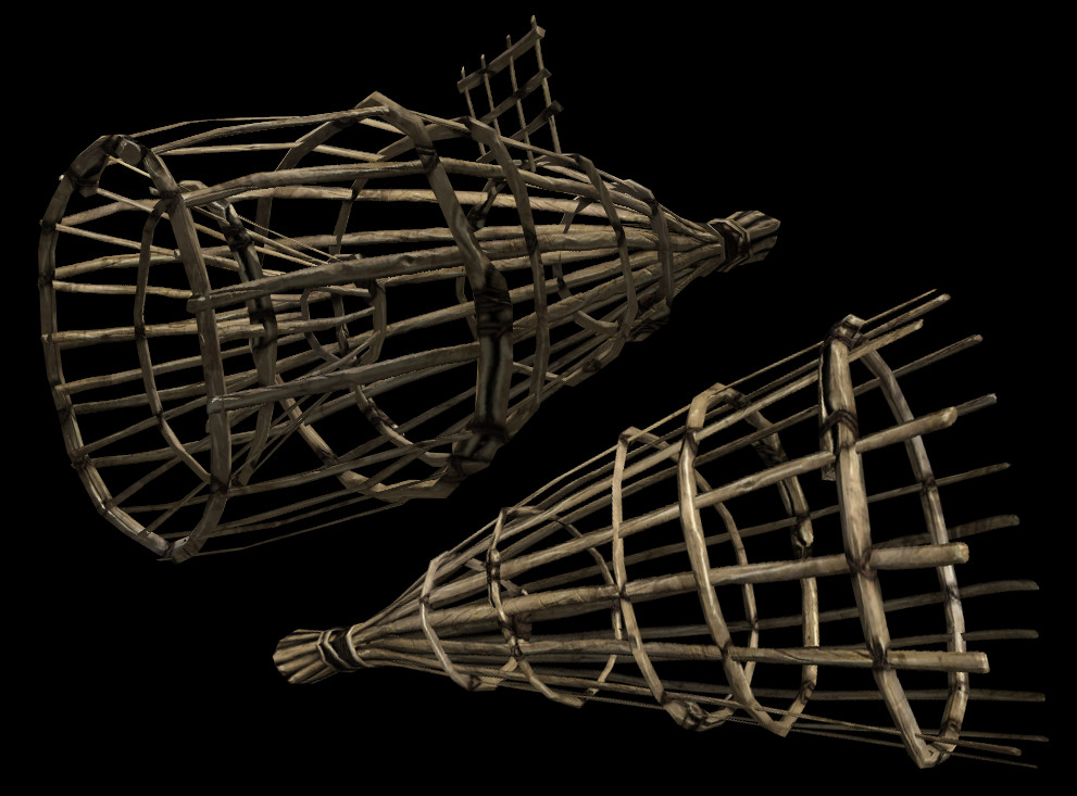Fish basket and fish trap