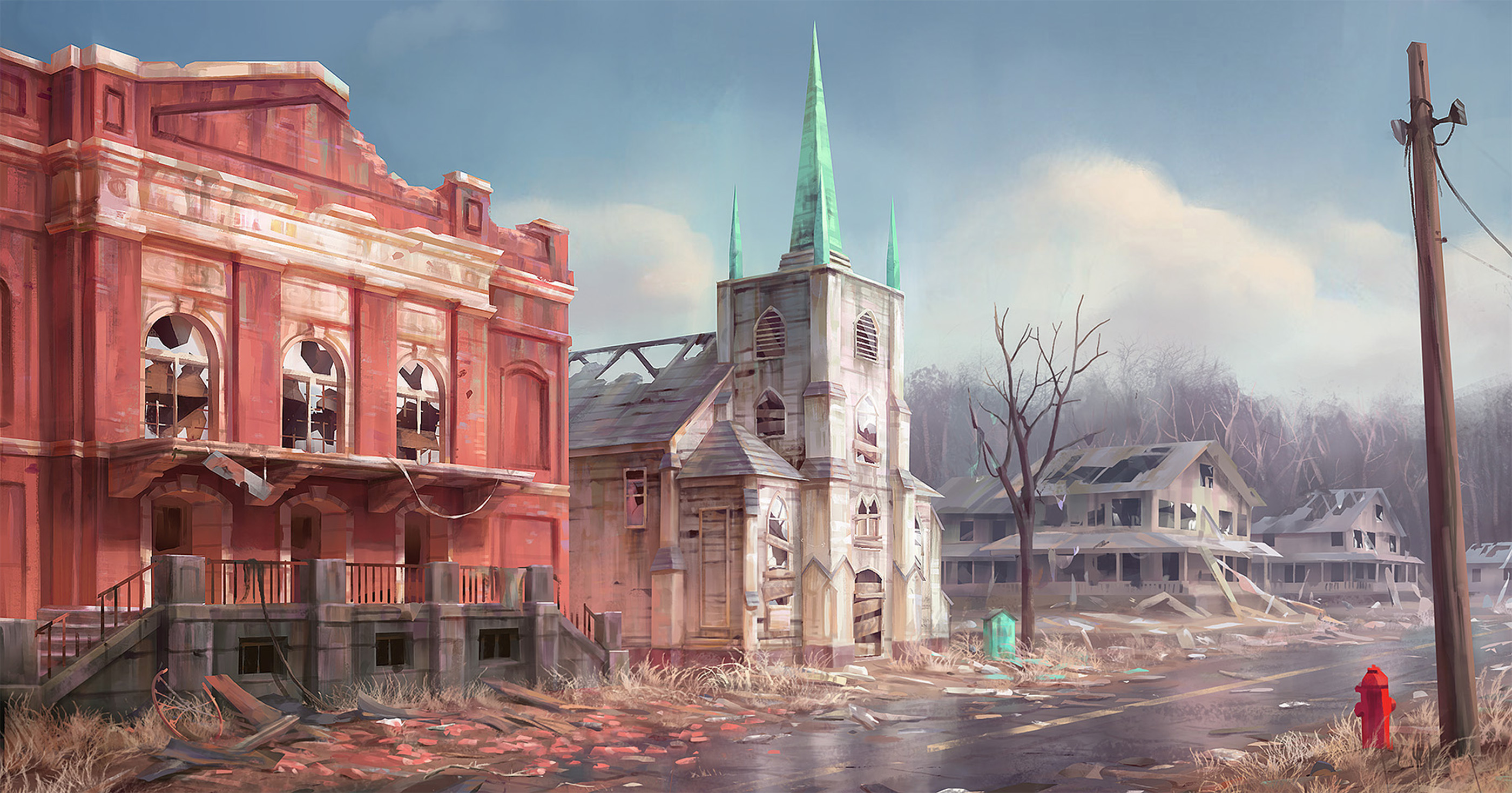 Concept art for Concord for Fallout 4