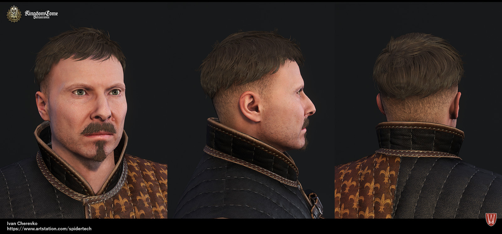 Artstation Kingdom Come Deliverance Low Poly Haircuts And Beards