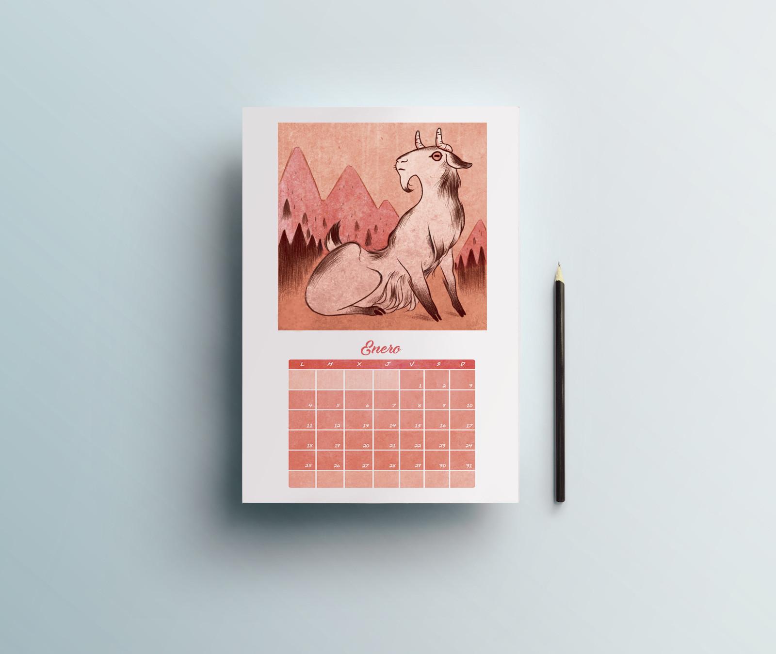 Sara ruiz prado calendario imprimir mockup vol 1
