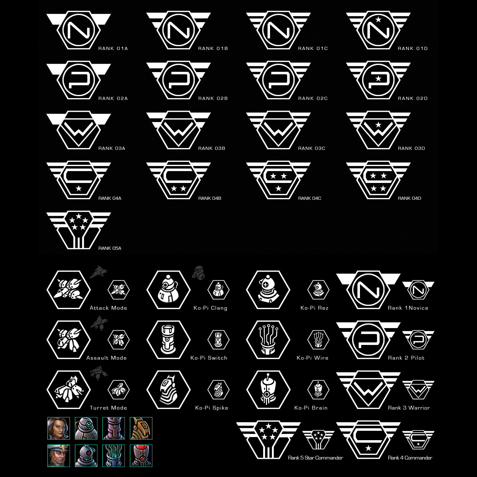(2011) Star Raiders Badges & Icons