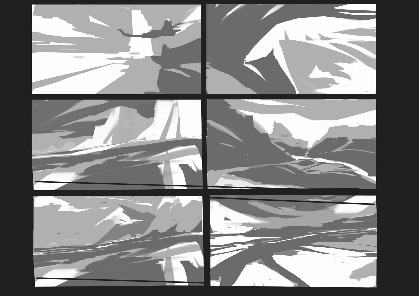 Marina ortega matte landscape compositions