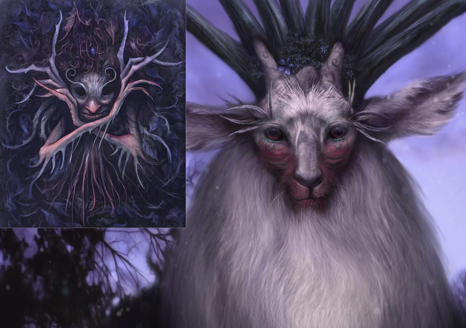 Artstation Forest Spirit Princess Mononoke Melquiades Dominguez