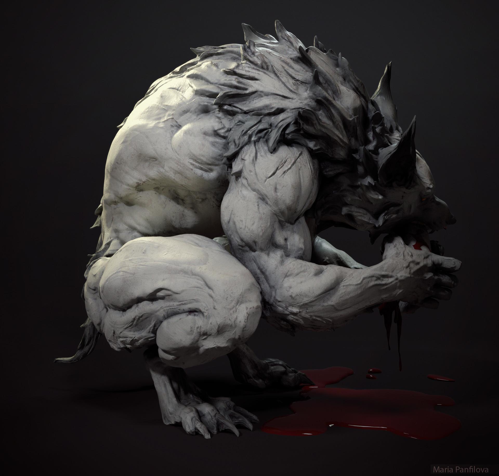 artstation werewolf maria panfilova