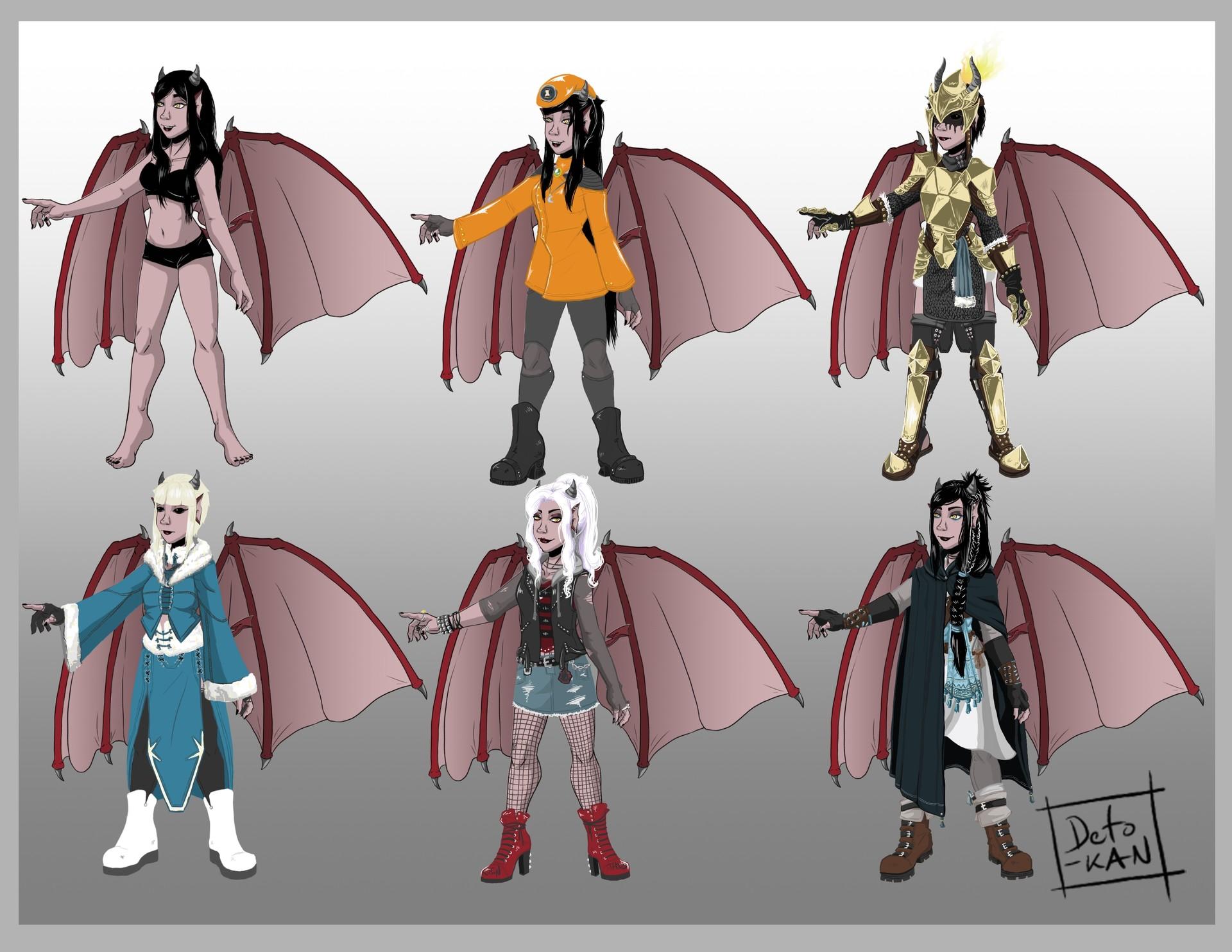 Detonya kan mink costumes set1
