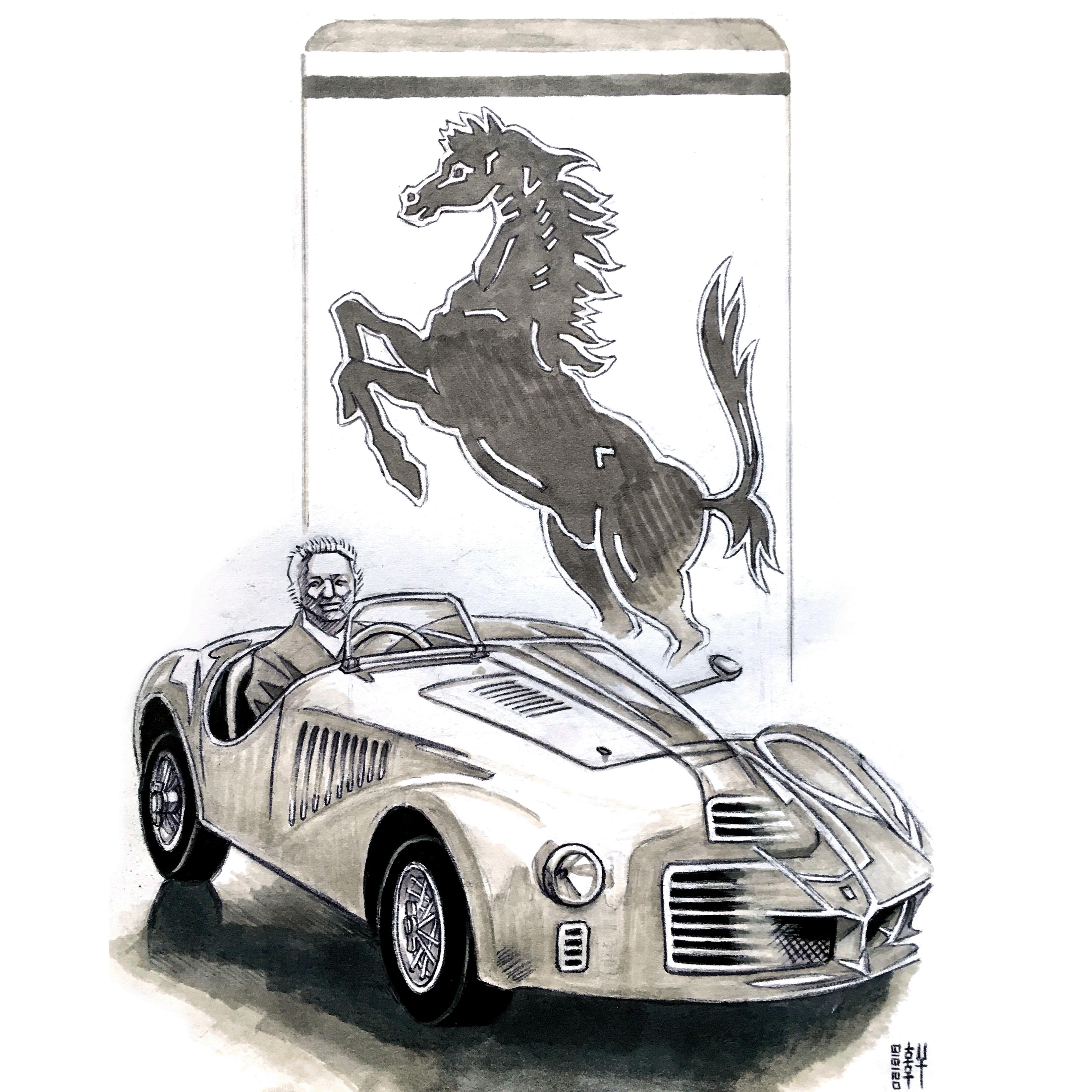 Day #15,151 -  Enzo Ferrari Sketch