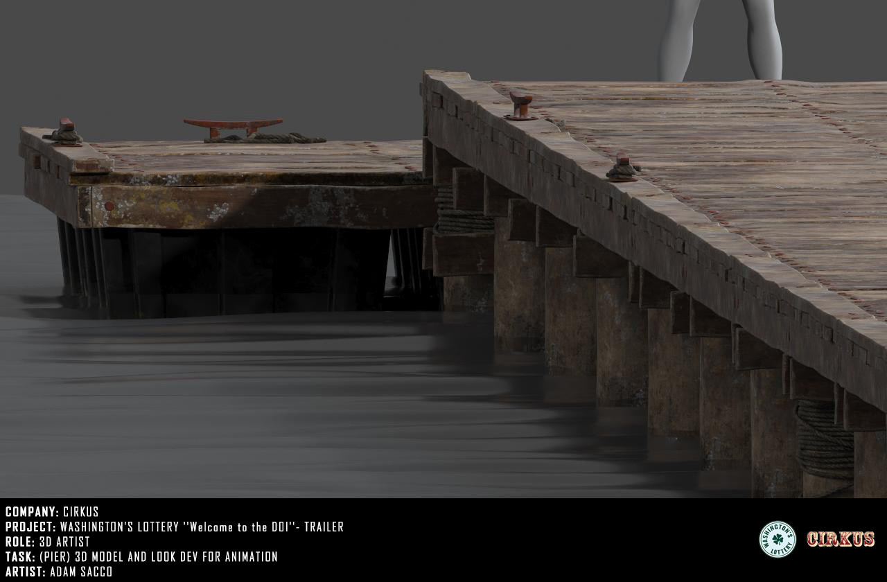 Pier - 3d model and look dev
