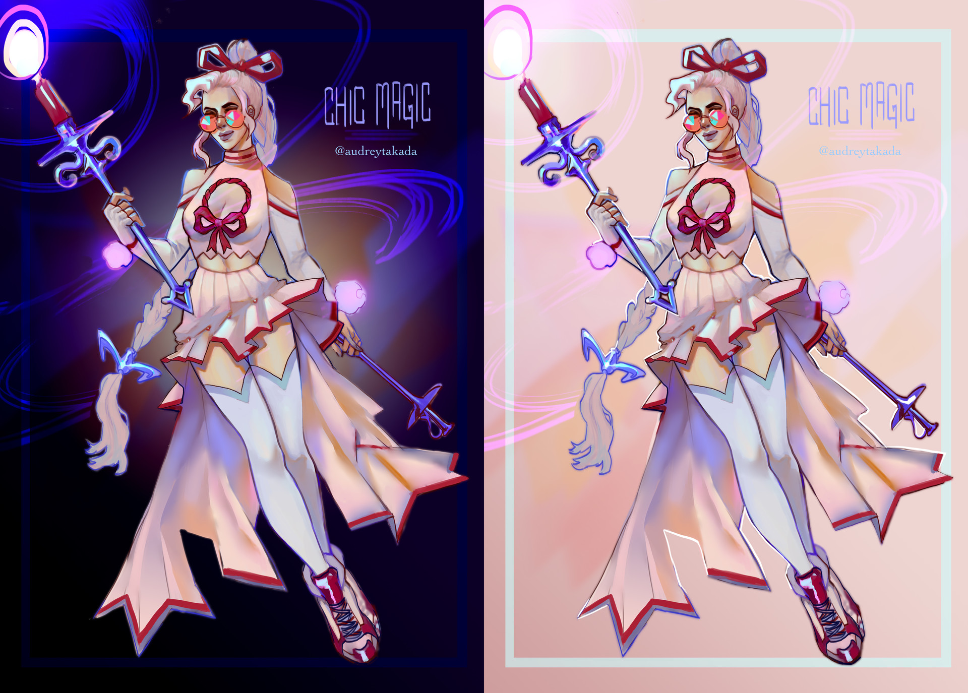 Felt like making a stylish, chic magical girl.