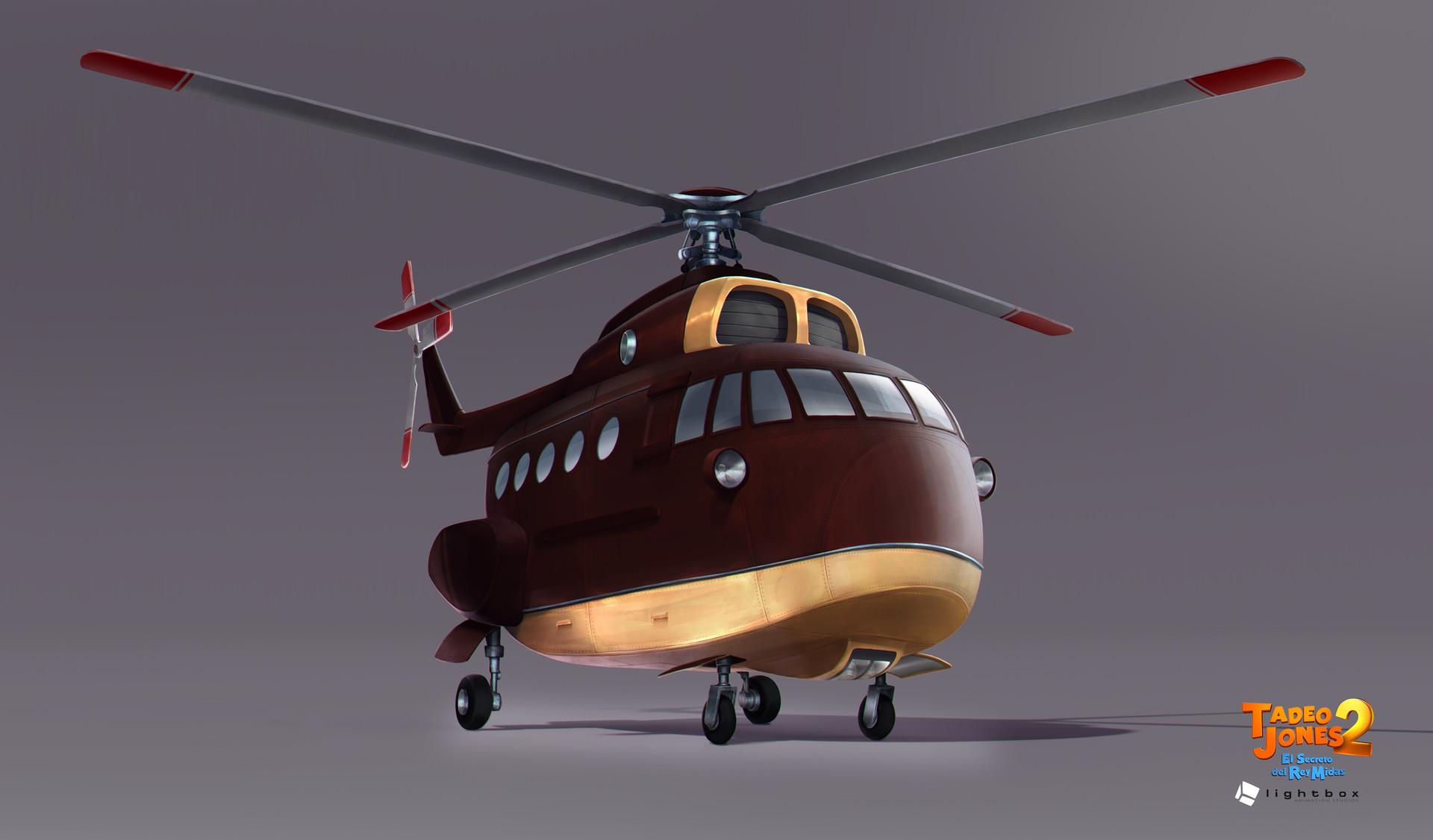 Angel oromendia helicopter