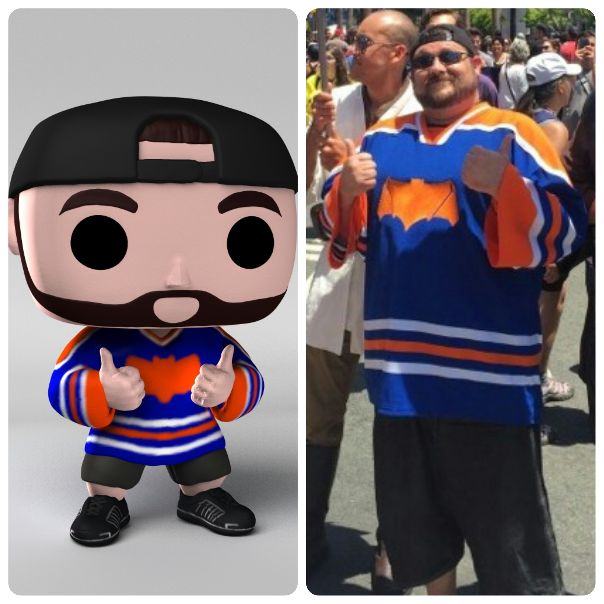 Funko POP figure I designed in ZBrush, based on my Kevin Smith cosplay.