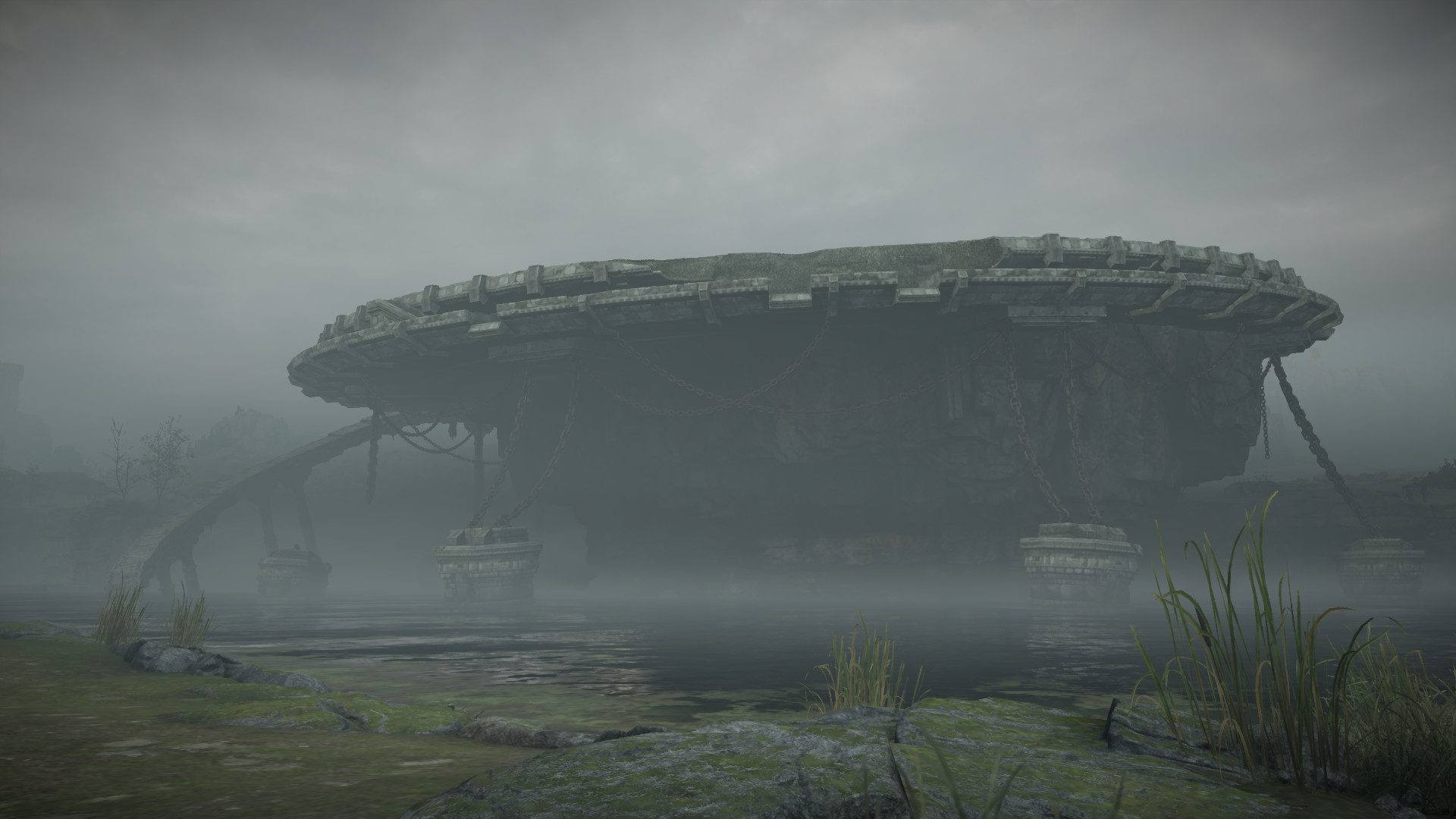 Arena 3: I was responsible for structures, decals, and foliage placement. The water and distant terrain is not my work.
