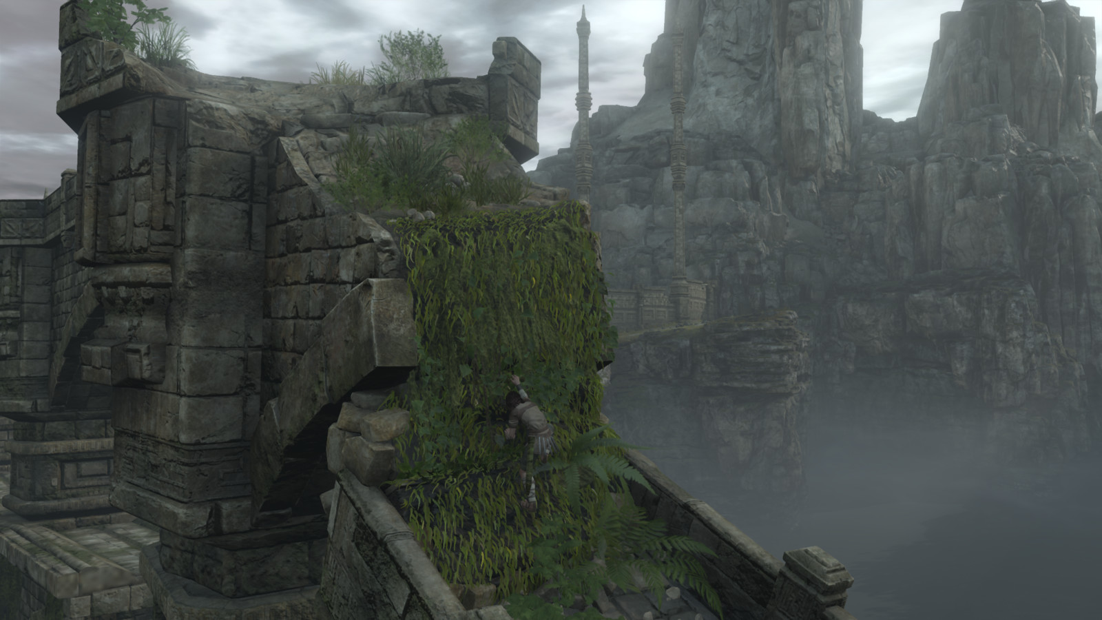 I was responsible for most of this level, including atmospherics. Cliff placement was done by another artist. I placed the vegetation but didn't model it. Some of the cliff models were mine.