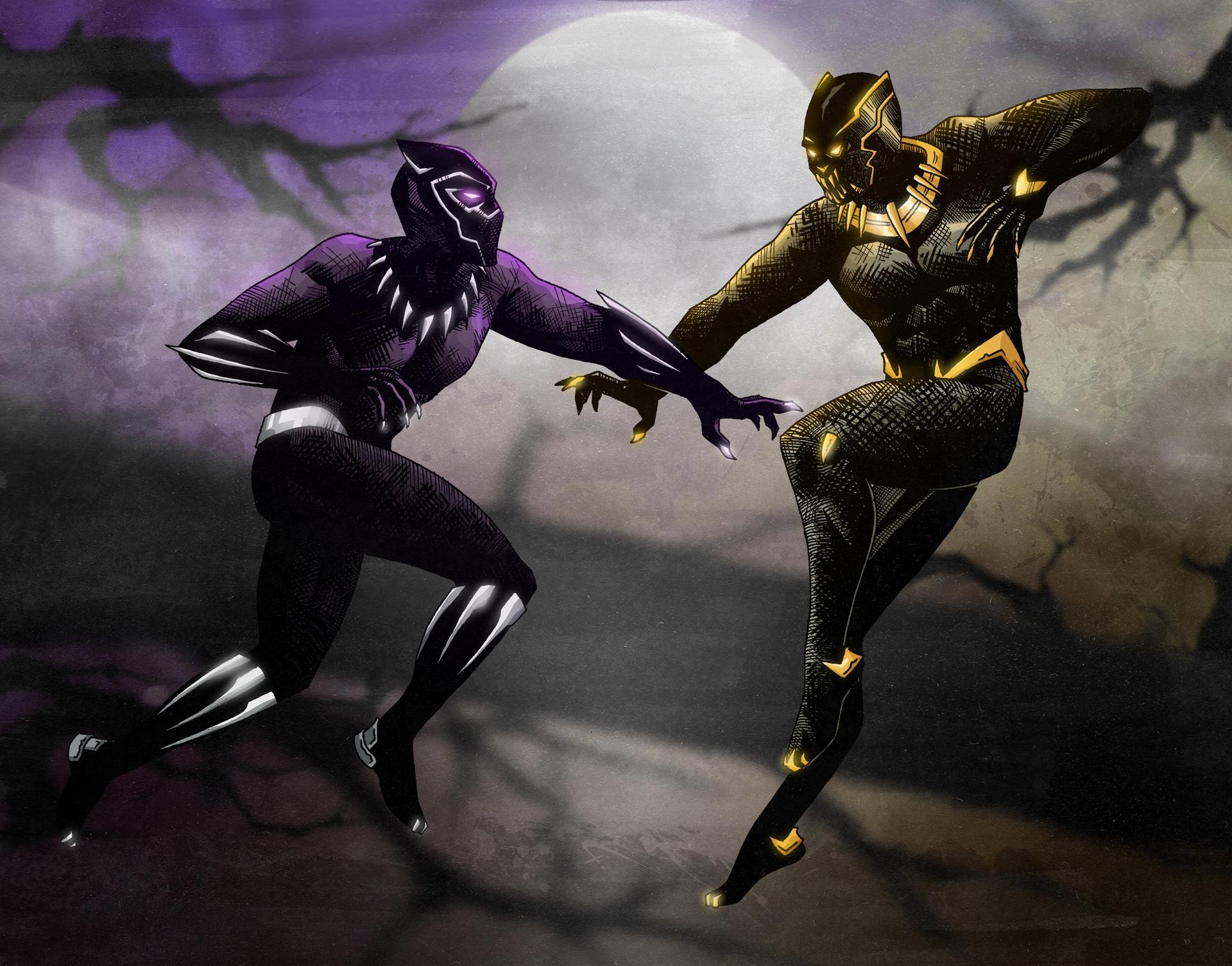 ArtStation - Black panther vs Killmonger, Nikolas Alecsovich - photo#3