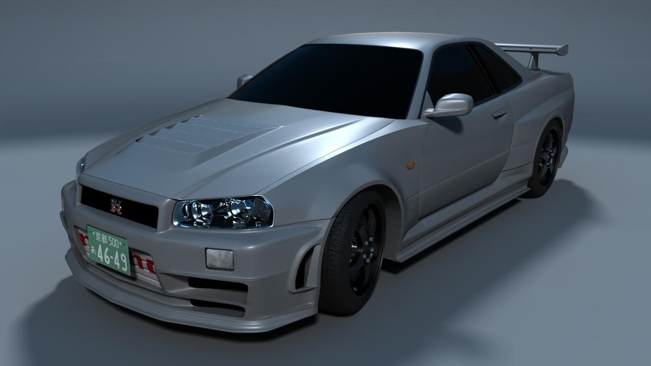 Artstation Car Modeling Nissan Skyline Gtr R34 Ztune Matari Art