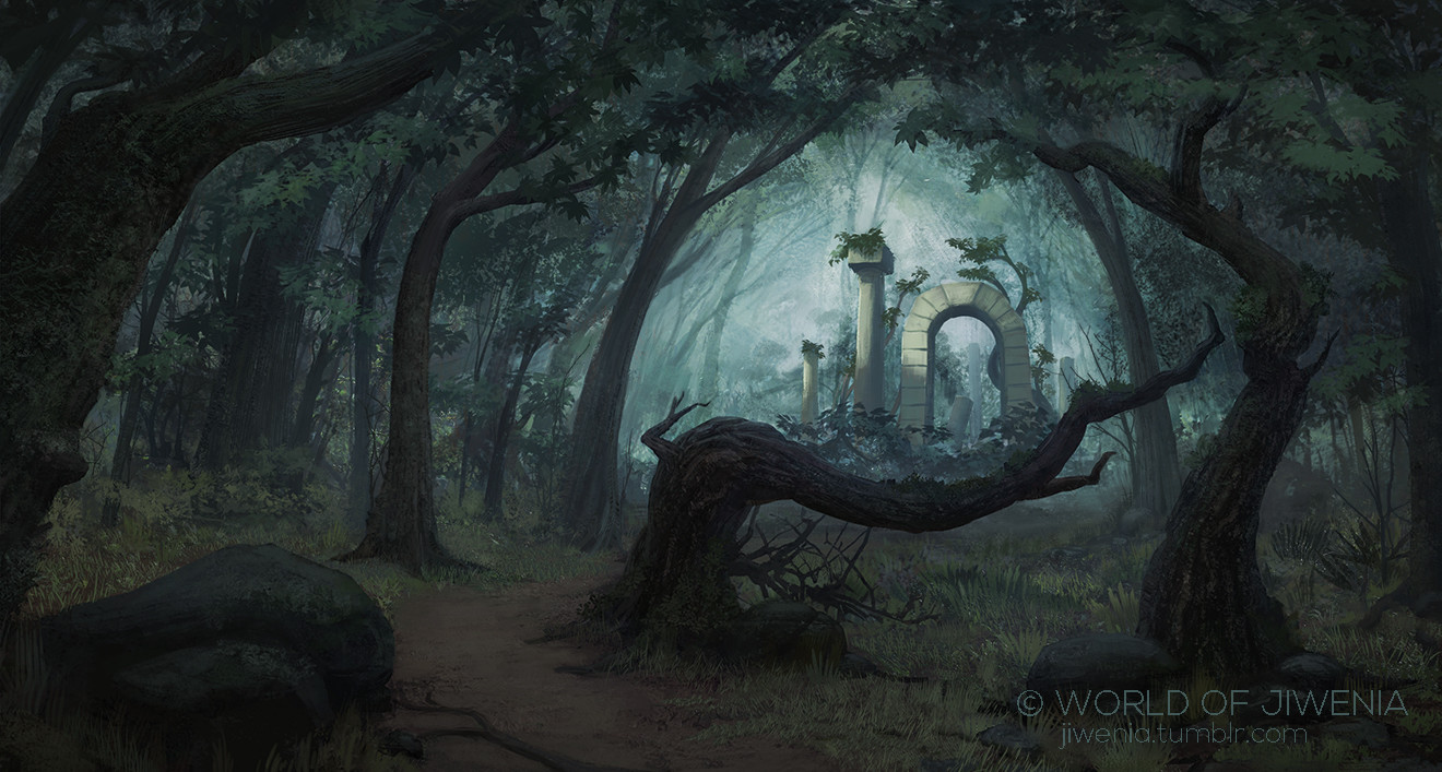 Artstation Dark Forest Vladek Sakolski