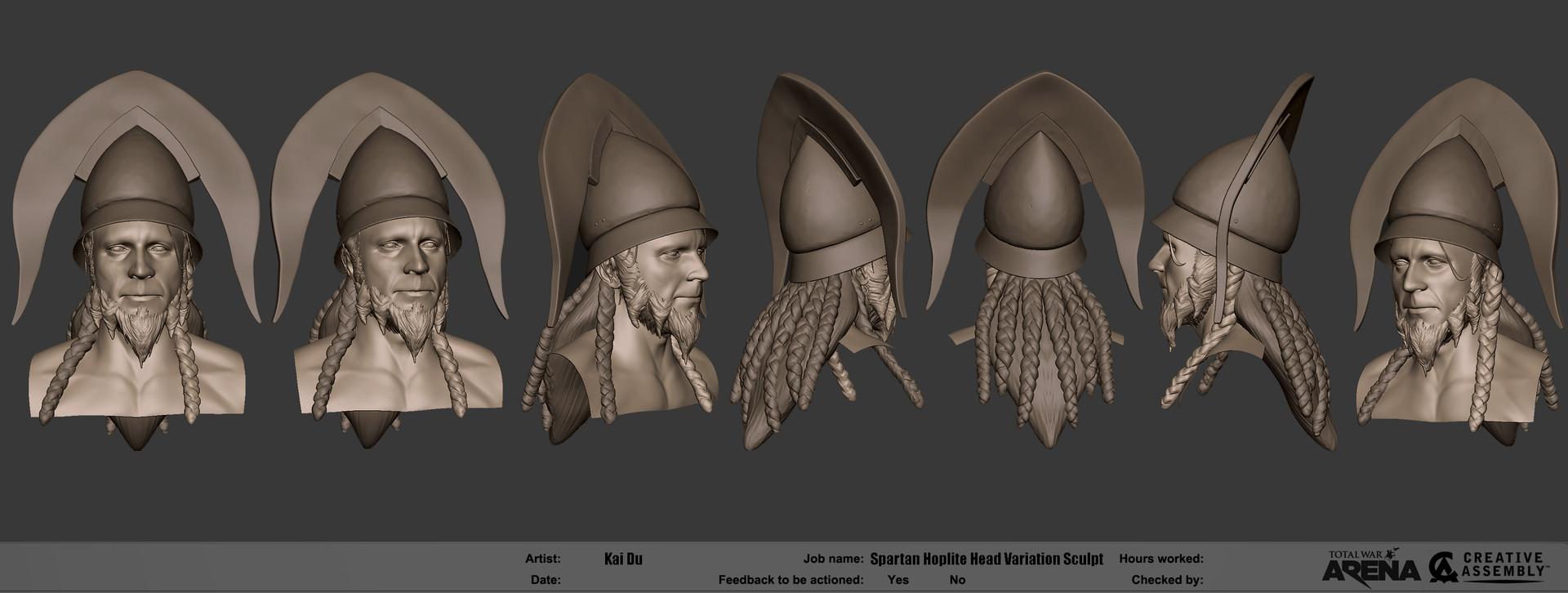 Kai du kai du spartan hoplite hex variation sculpt