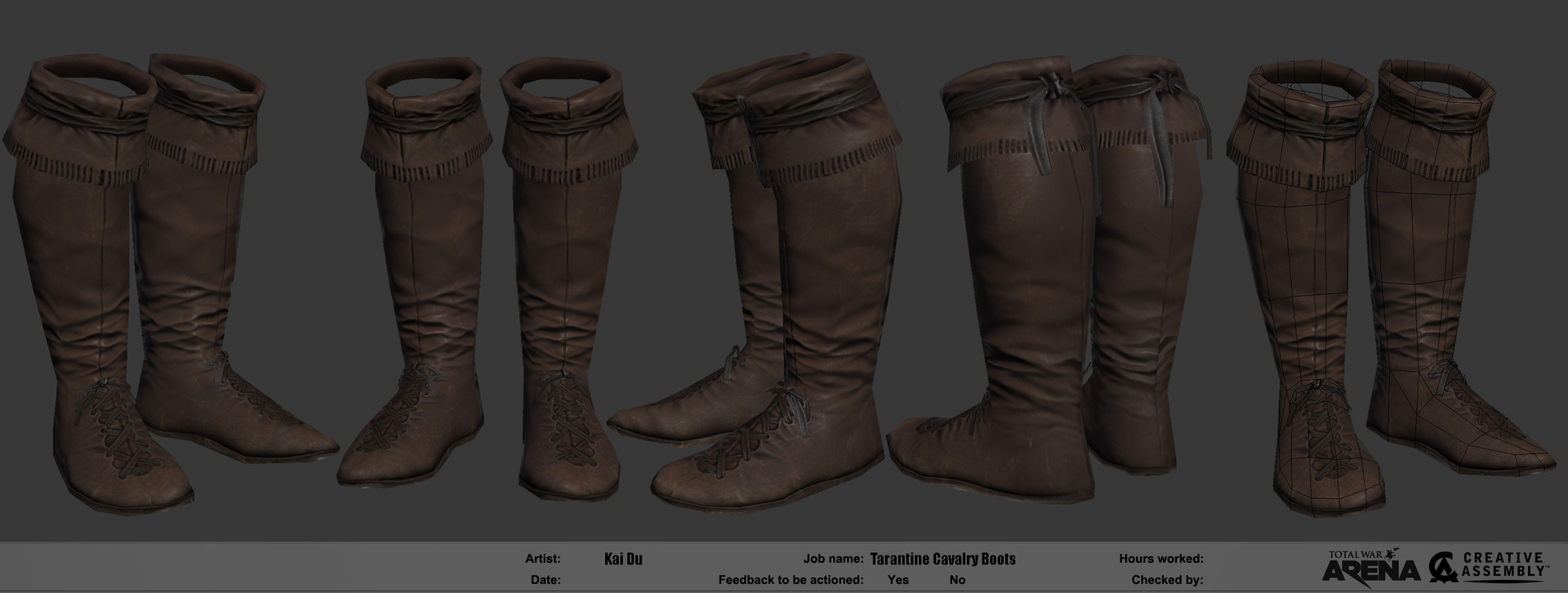 Kai du kai du premium tarantine cavalry boots