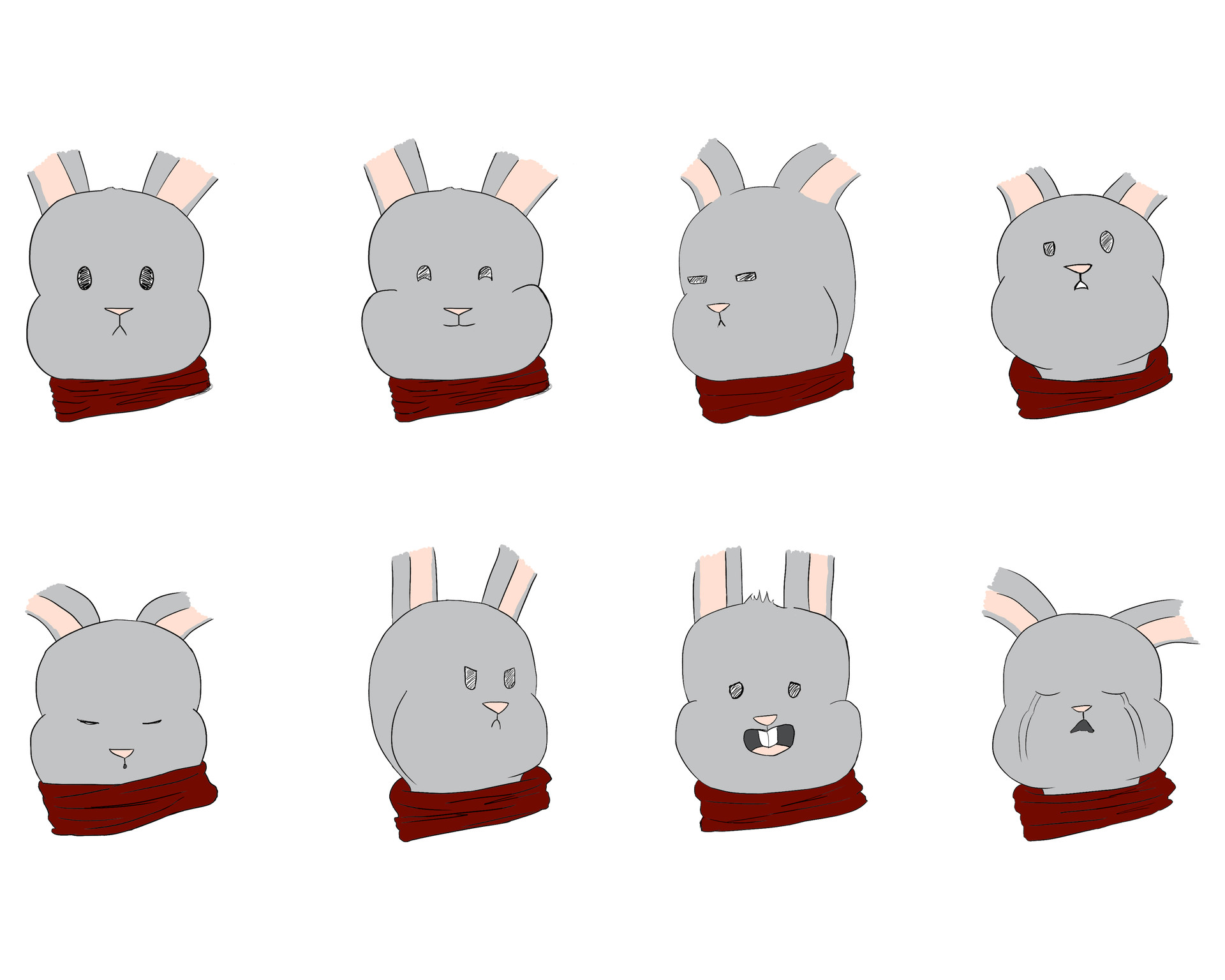 Josue canales bunny face expressions