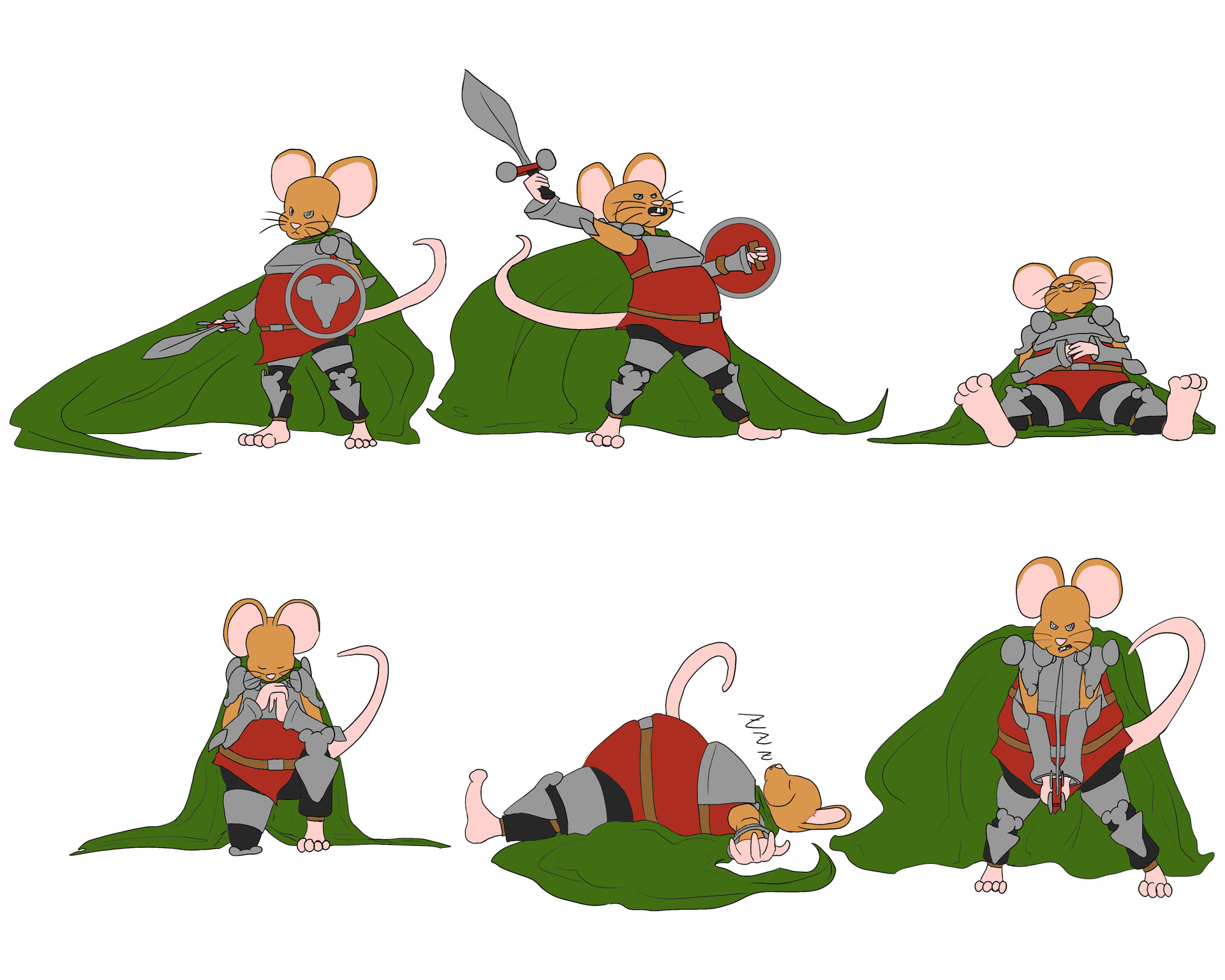 Josue canales mouse action poses