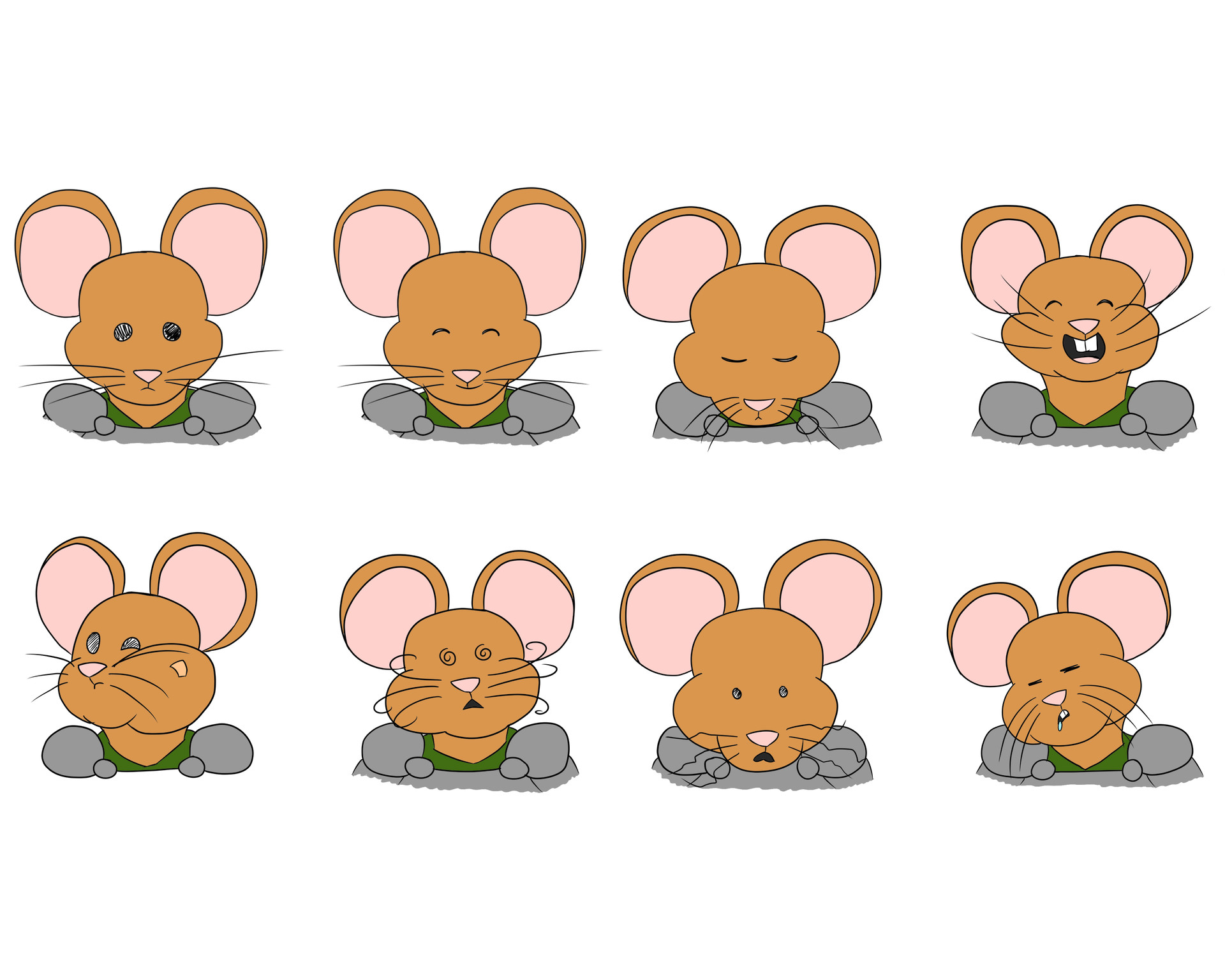 Josue canales mouse face expressions