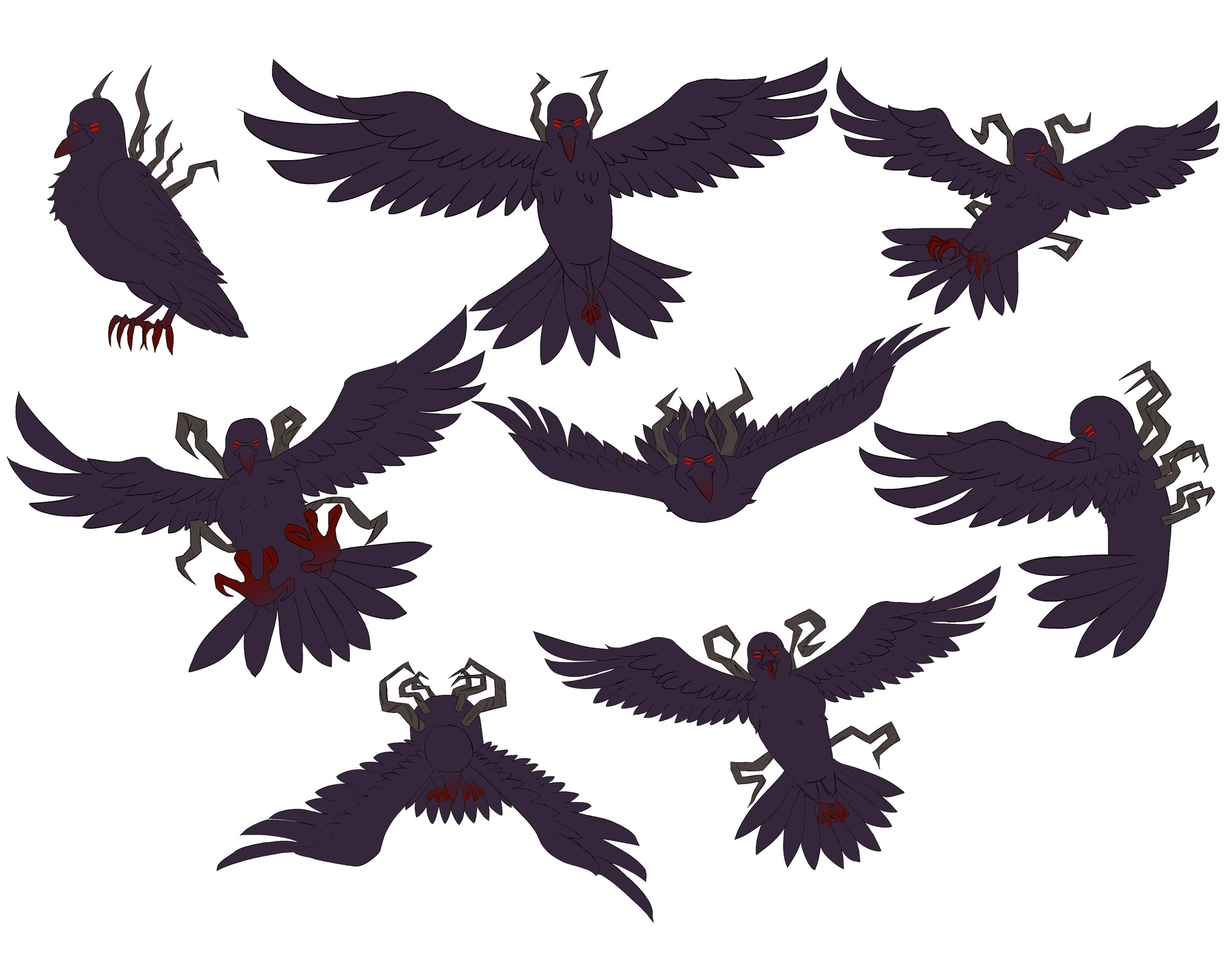 Josue canales demon crow action poses