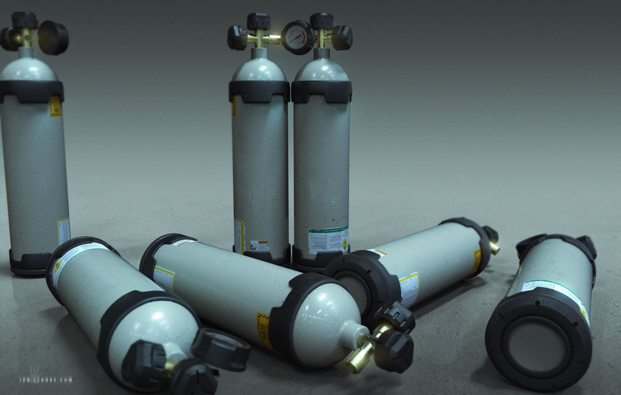 The oxygen tanks