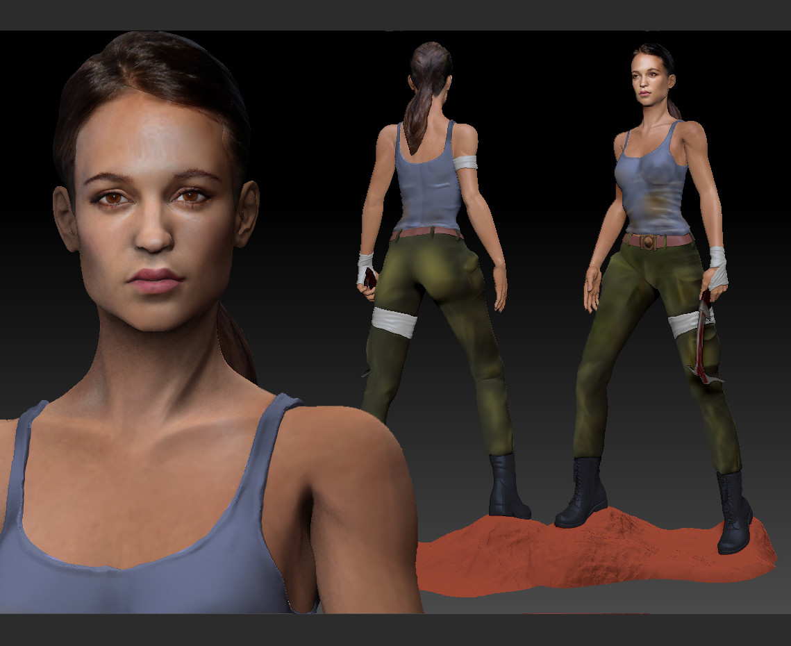 Ian Malcolm Tomb Raider 2018 3d Model Alicia Vikander As Lara Croft