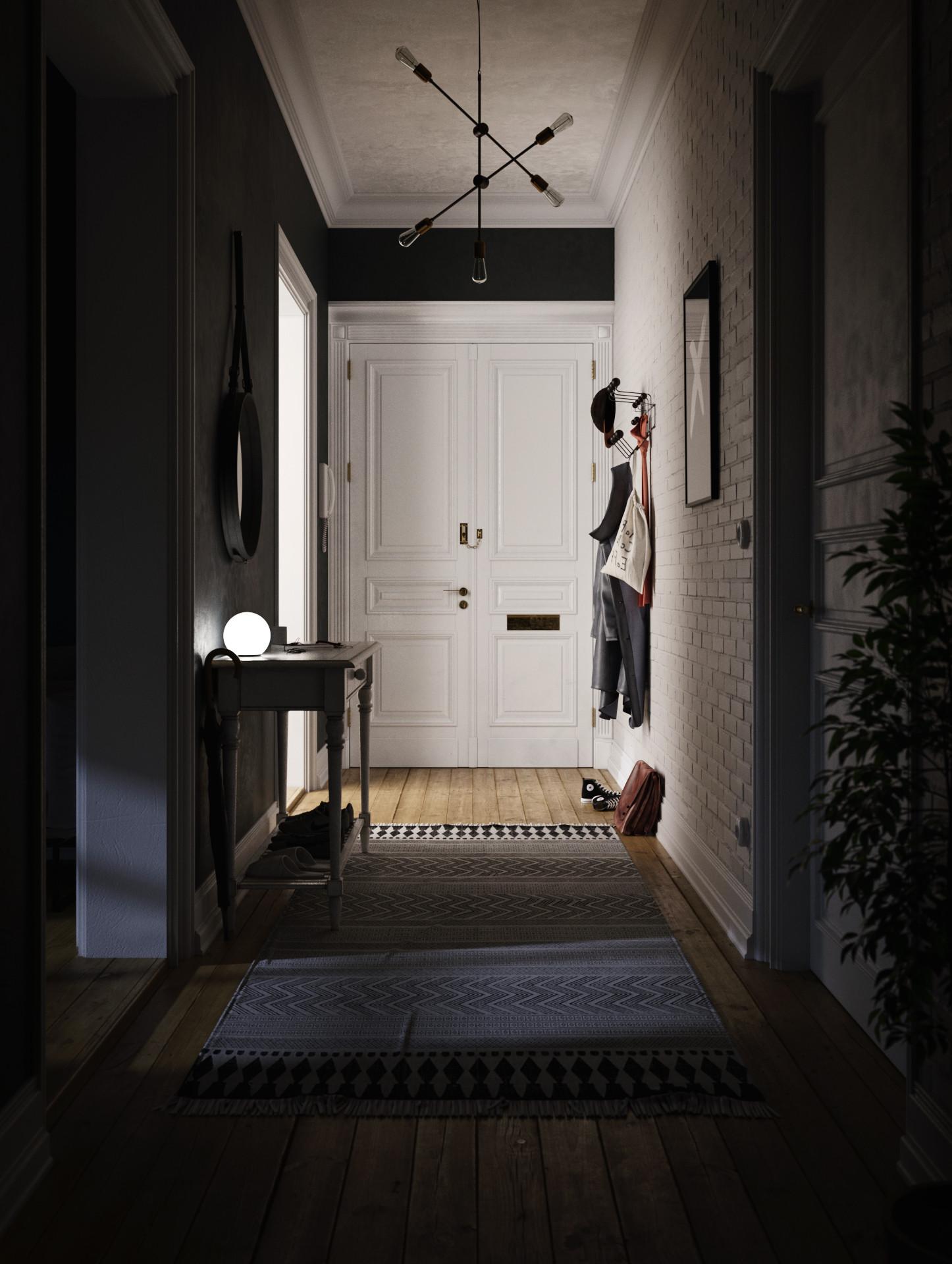 Alex langletz hallway interior 02