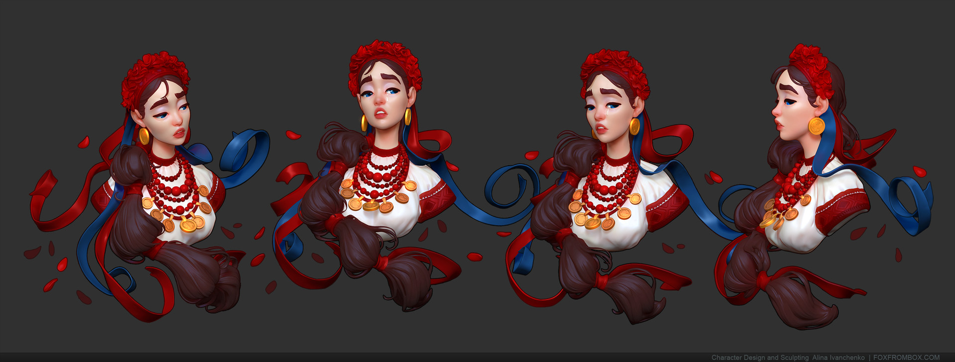 Zbrush BPR render + Post production in Photoshop