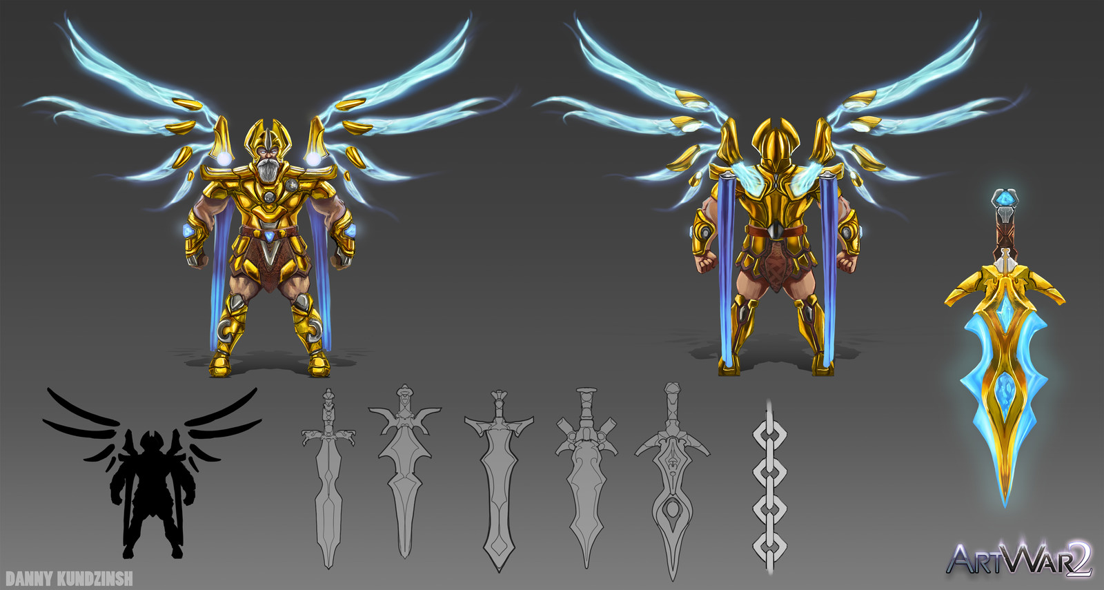 Artwar2 concept sheet - Archangel Michael