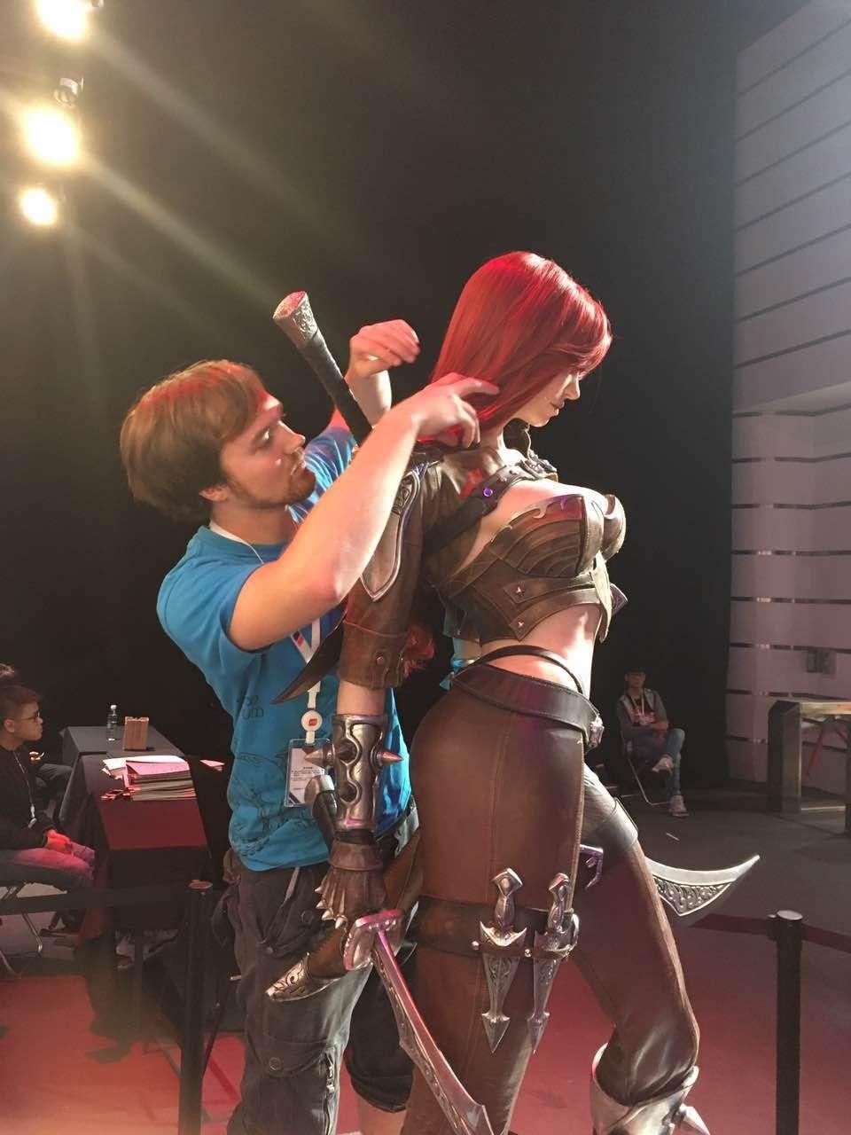 Fixing Katarina's hair for her big debut