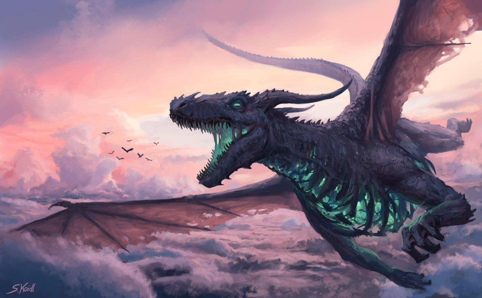 Stefan Koidl, Sky dragon, arte digitale