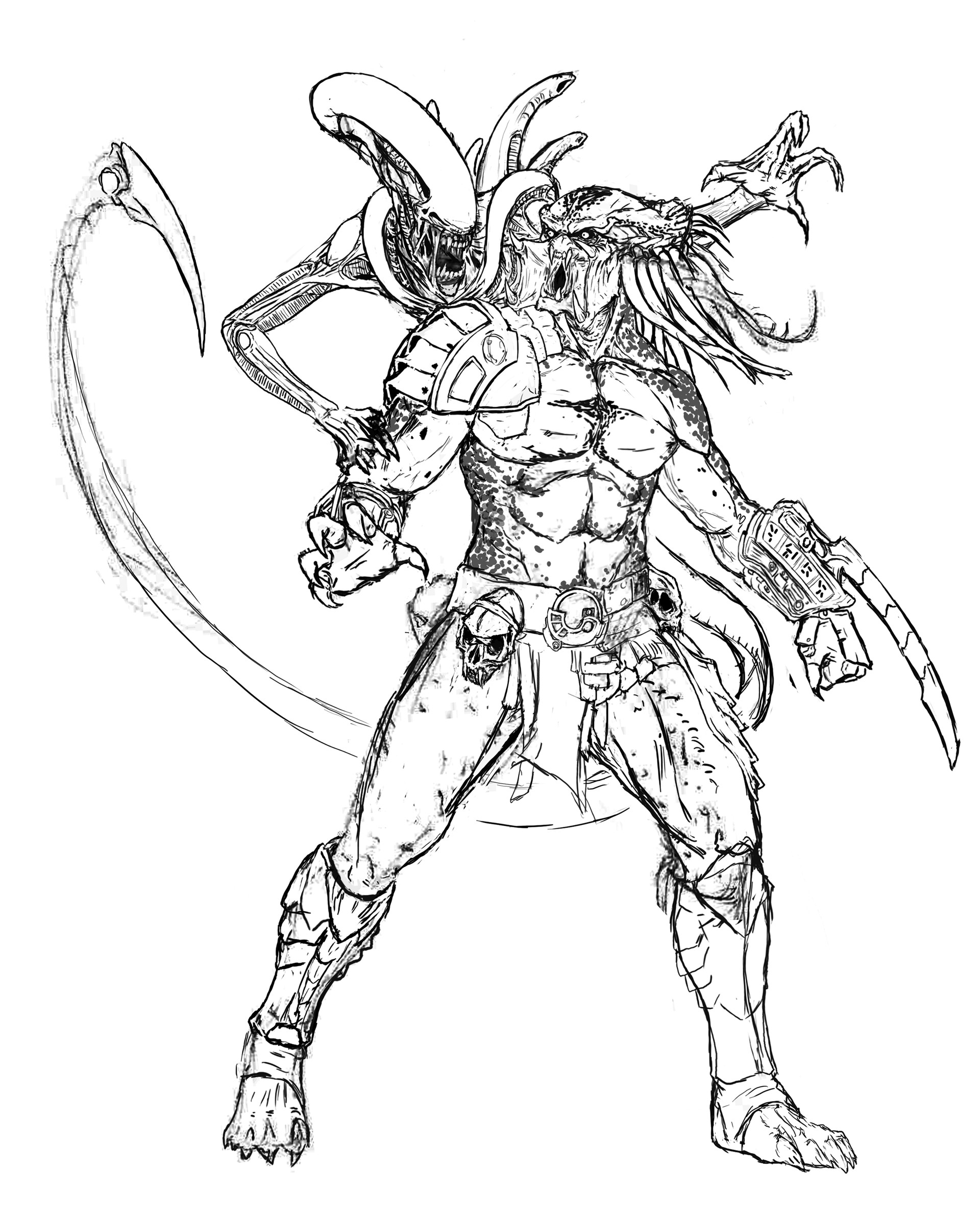 Artstation alien vs predator i ben naceur prohibe