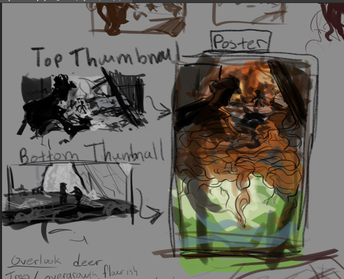 Early thumbnails/ideation.