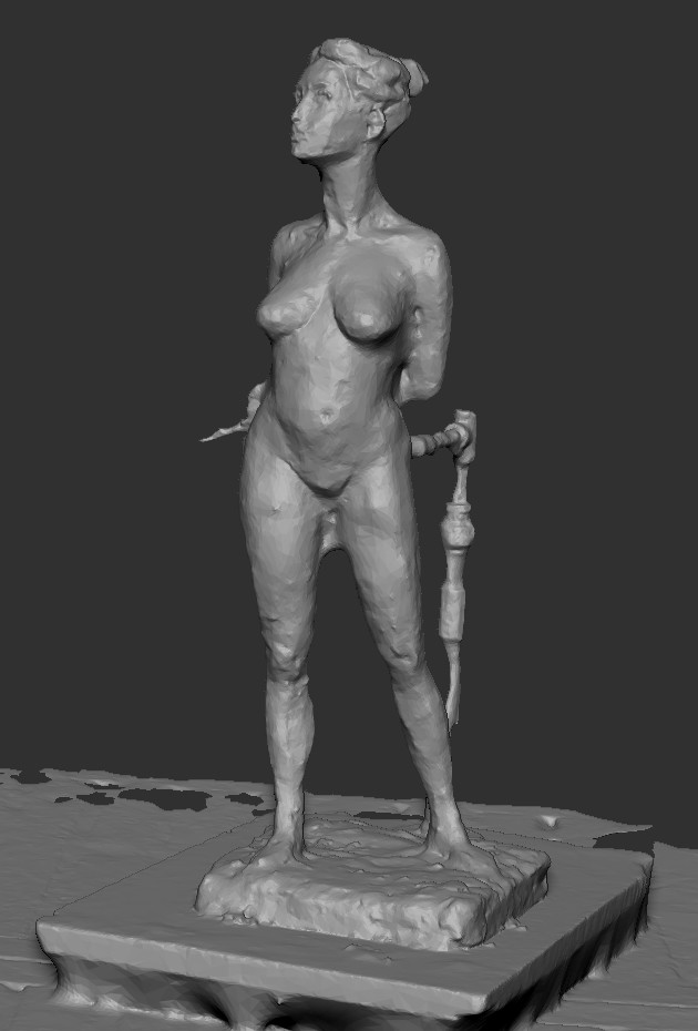 The raw captured mesh in zbrush