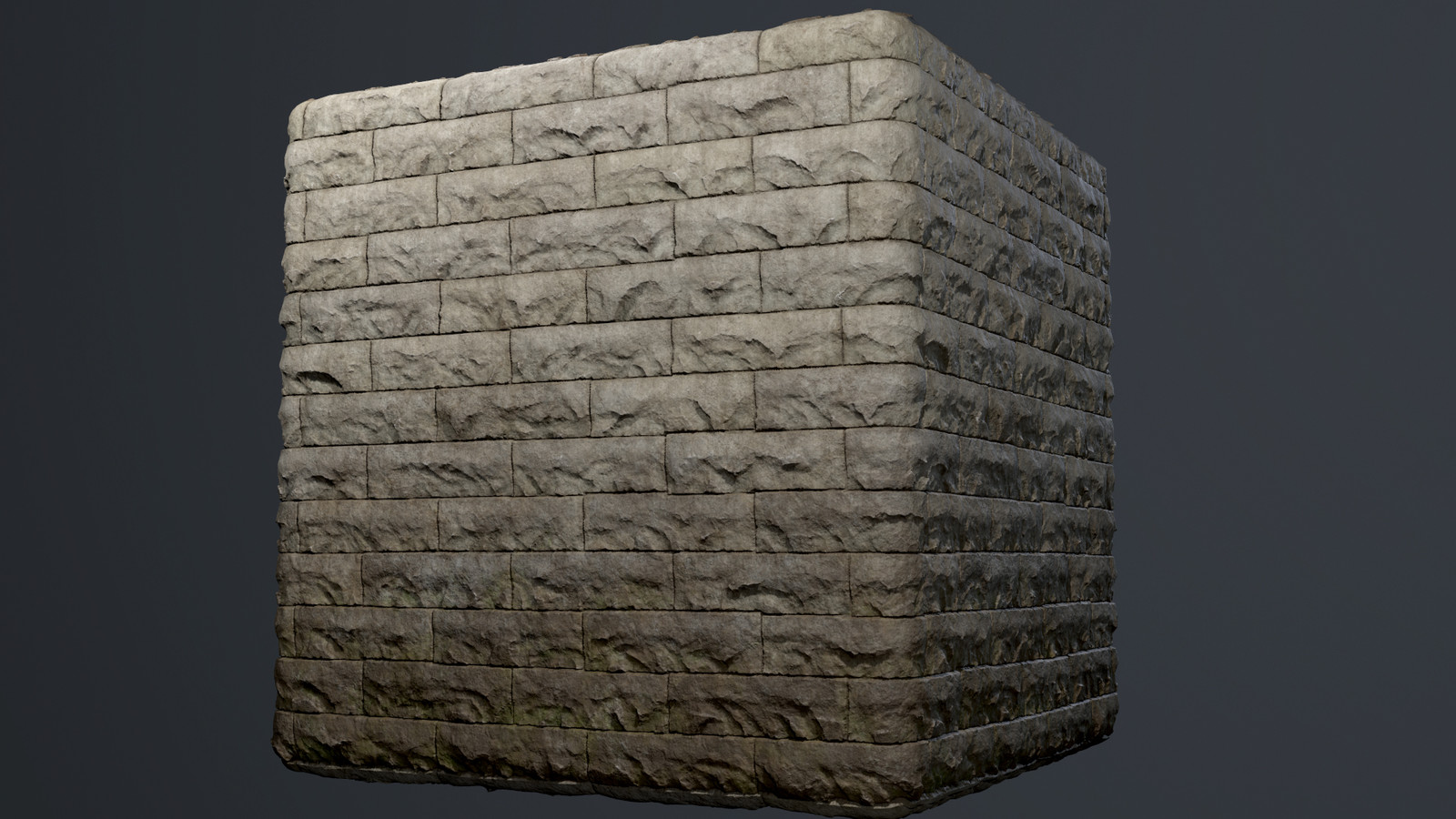 Since this texture would only be used on the first floor of building, I added a directional dirt gradient to help transition the texture into the ground.